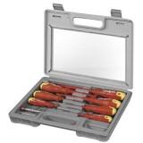 Nástroj Set 8ks elektrikářských šroubováků + zkoušečka napětí v kufříku