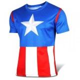Sportovní tričko - Captain America - Velikost XL