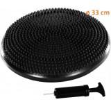 Balanční polštář na sezení MOVIT 33 cm, černý