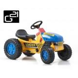 Šlapací traktor G21 Classic žluto/modrý