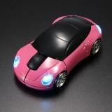 PC myš auto bezdrátová - růžová