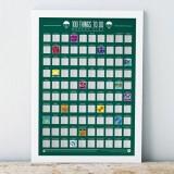 Stírací plakát 100 nejbláznivějších, nejvíce vzrušujících věcí! - Bucket list