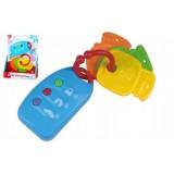 Klíče + dálkové ovládání plast na baterie se zvukem na kartě 6m+