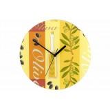 Nástěnné hodiny WENKO 27 cm - oliva