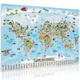 Dětská vzdělávací mapa světa - 140 x 140 cm