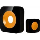 Zvonek Optex 990226 Bezdrátový designový barevný zvonek černá/oranžová s dlouhým dosahem