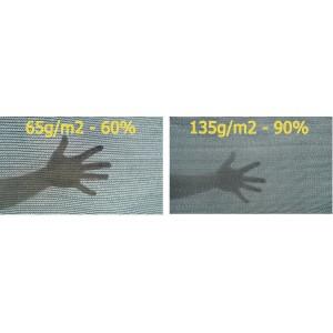 Stínící síť / tkanina 65g/m2 - 1,5 x 50 m