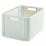 Polyratanový košík STYLE BOX L - krémový CURVER