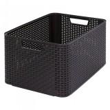 Plastový úložný STYLE BOX - L- hnědý CURVER