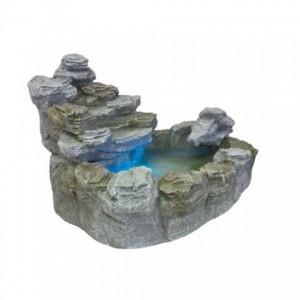 Zahradní kašna - fontána s osvětlením