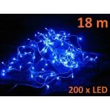 Vánoční LED osvětlení 18 m - modré, 200 diod