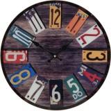Kulaté nástěnné hodiny Shabby Chic 38 cm - SPRING