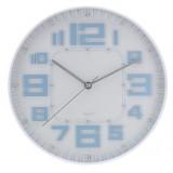 Nástěnné hodiny skleněné RELIÉF 30 cm - MODRÁ