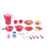 Hračka G21 Dětské nádobí plastové růžové 39ks