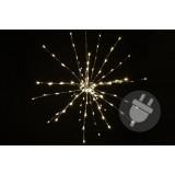 Vánoční osvětlení - meteorický déšť - teplá bílá, 64 LED