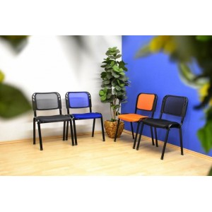 Sada 2 stohovatelných kongresových židlí - oranžová